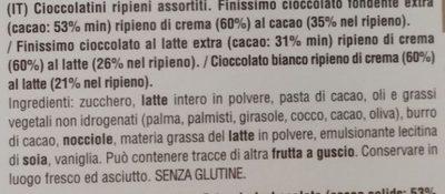 Tortellini di cioccolato - Ingrédients - it