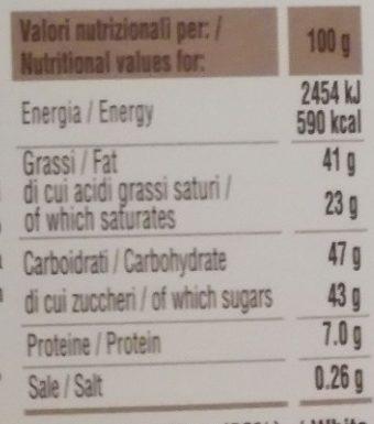 Tortellini di cioccolato - Informations nutritionnelles - it