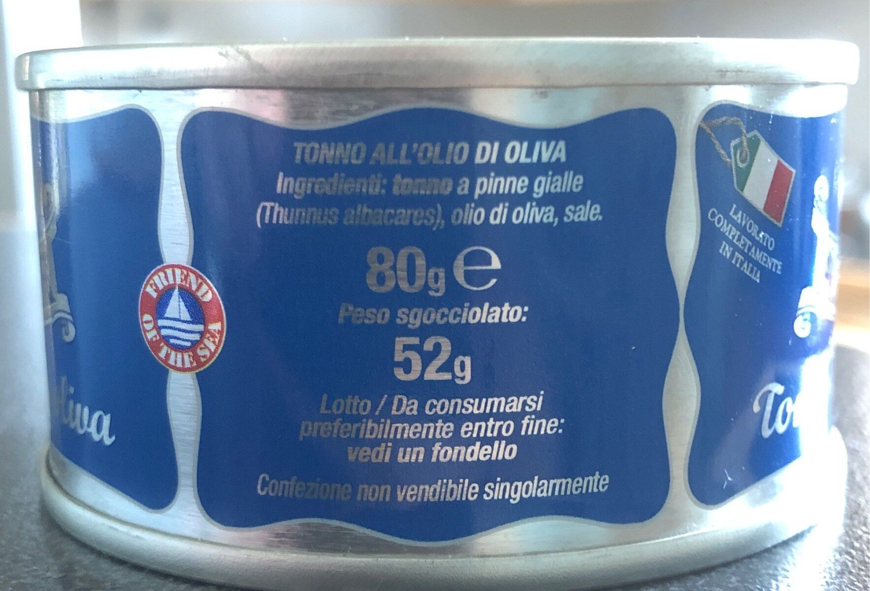 Tonno all'olio d'oliva - Ingrédients