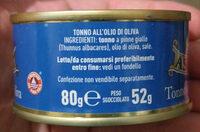 Tonno all'olio di oliva - Ingredients - it