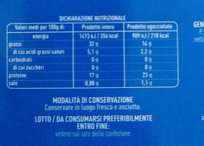 Tonno all'olio di oliva - Nutrition facts - it