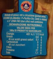 Filetti di tonno al naturale - Valori nutrizionali - it