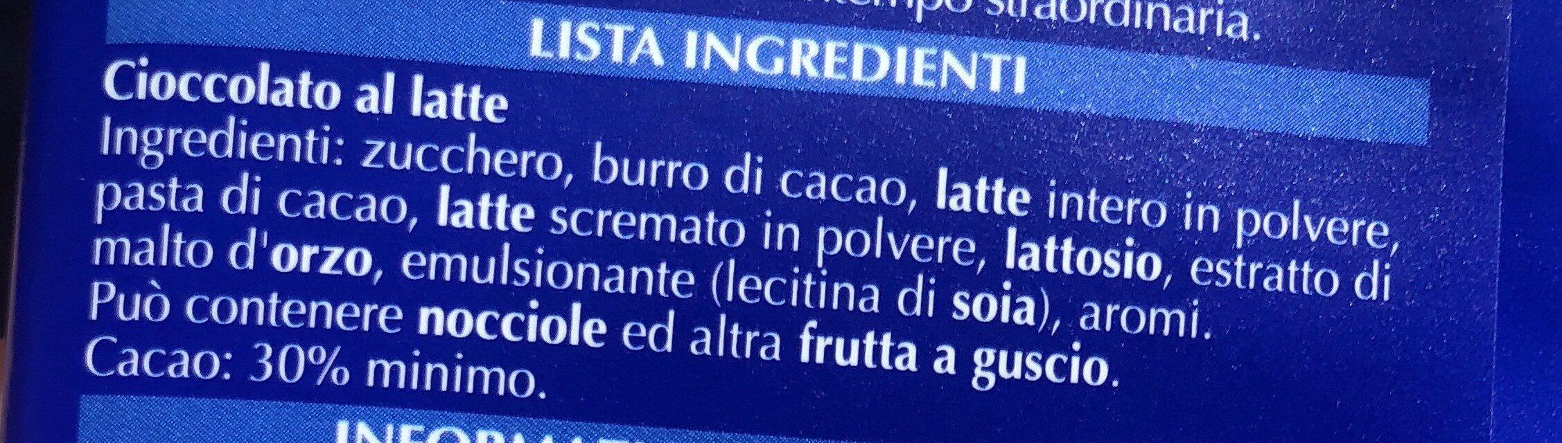 Lindt Gamme Bleue Latte GR. 100 - Ingredients