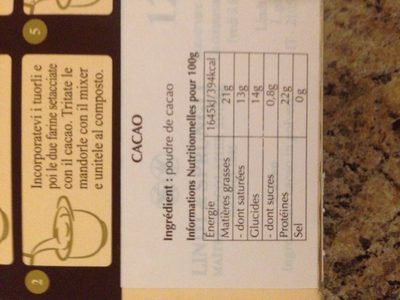 Lindt Cacao - Ingrédients