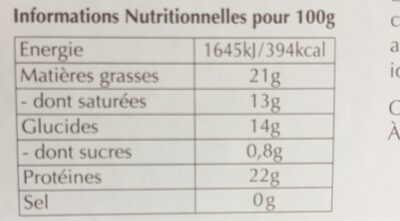 Lindt Cacao - Informations nutritionnelles - it