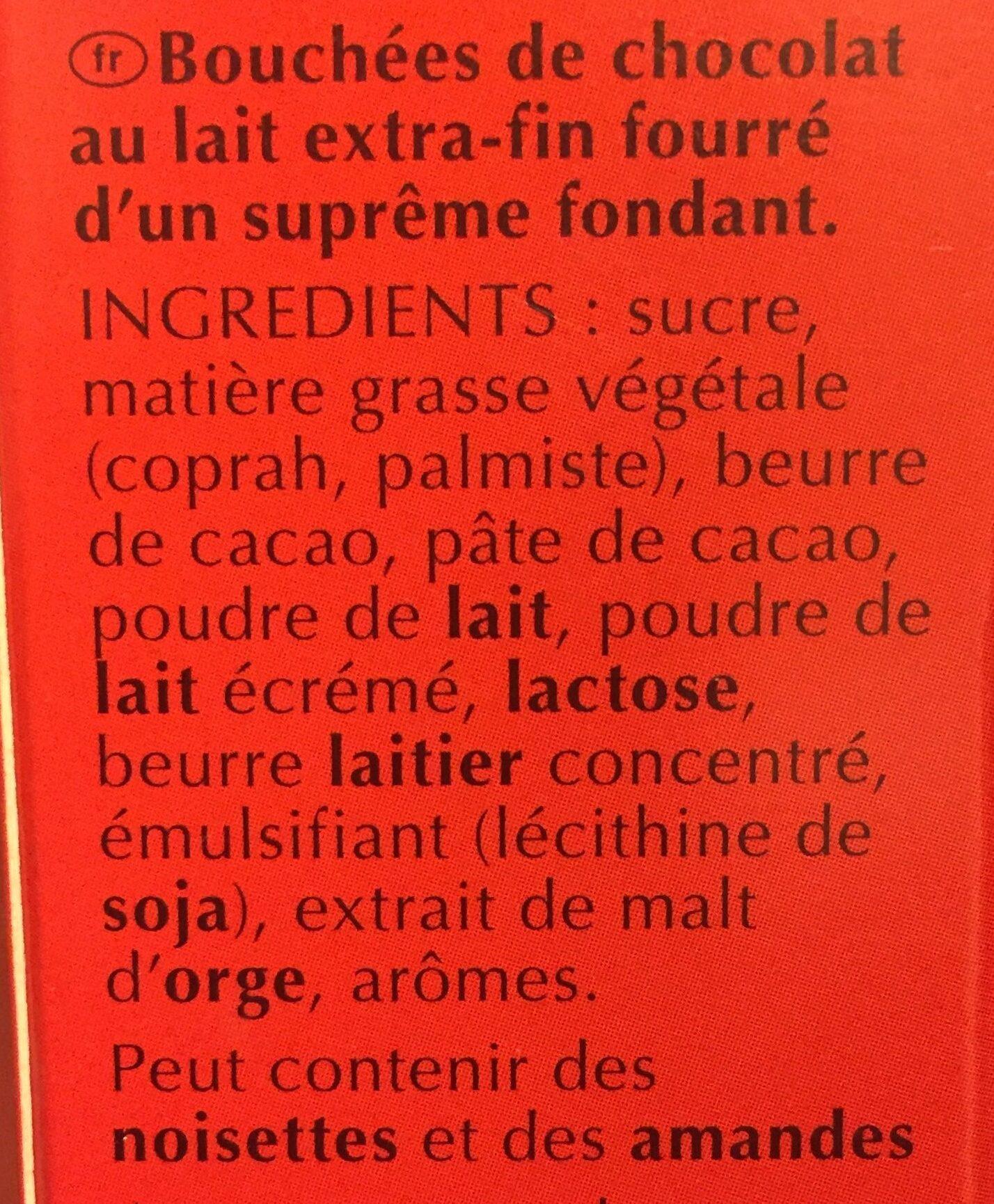 Lindt box lindor lait cornet - Ingredientes - fr