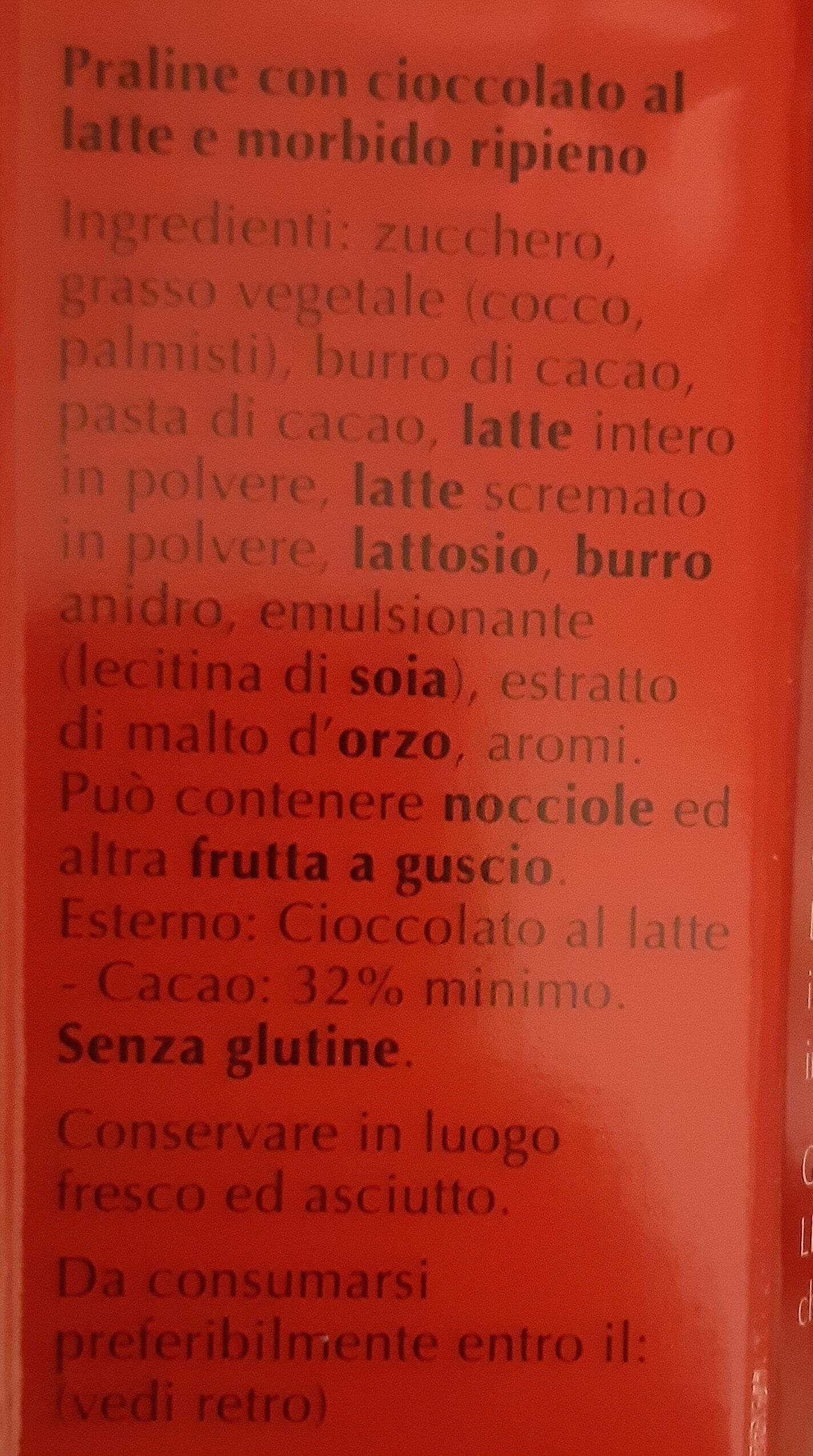 Bouchées de chocolat au lait, fourré d'un suprême fondant - Ingredienti - it