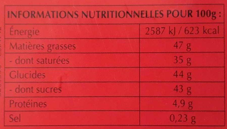 Lindt box lindor lait cornet - Información nutricional - fr