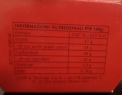 Bouchées de chocolat au lait, fourré d'un suprême fondant - Informazioni nutrizionali