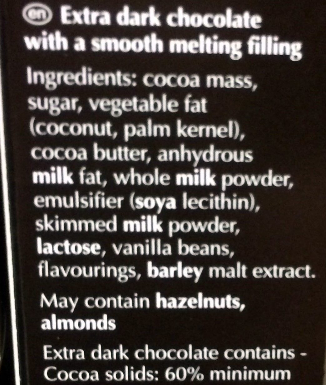 Extra dark chocolate with smooth melting feeling - Ingredients