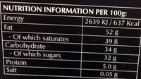 Extra dark chocolate with smooth melting feeling - Nutrition facts
