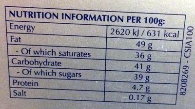 Milk, extra dark,mailk with hazelnuts pieces and white choclate truffles with a smooth melting filling - Nutrition facts