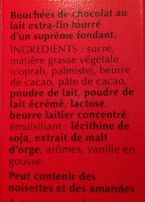 Lindor lait - Ingrédients