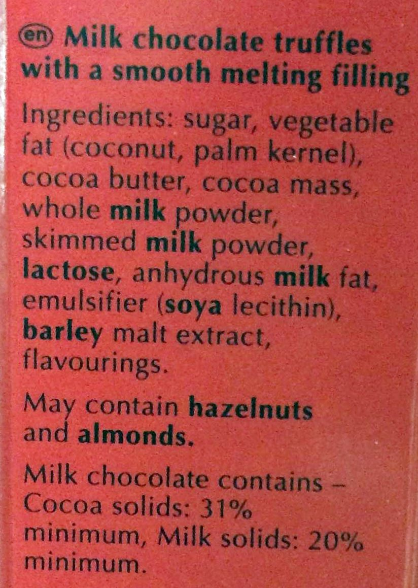 Irresistibly smooth - milk - Ingredients - en