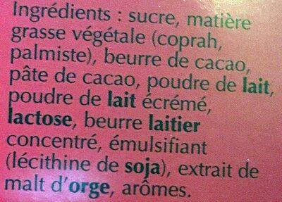 Lindt Pralines Lindor Cornet Milk - Ingredientes
