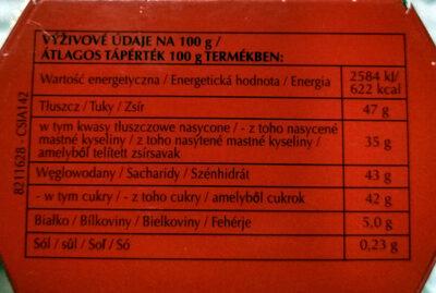 Pralinki z czekolady mlecznej z delikatnie rozpływającym się nadzieniem (44%). - Nährwertangaben - de