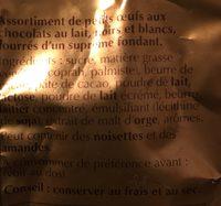 Pushbag Œufs Moyens Lindor Assorti 180 g Lot de 2 - Ingrédients