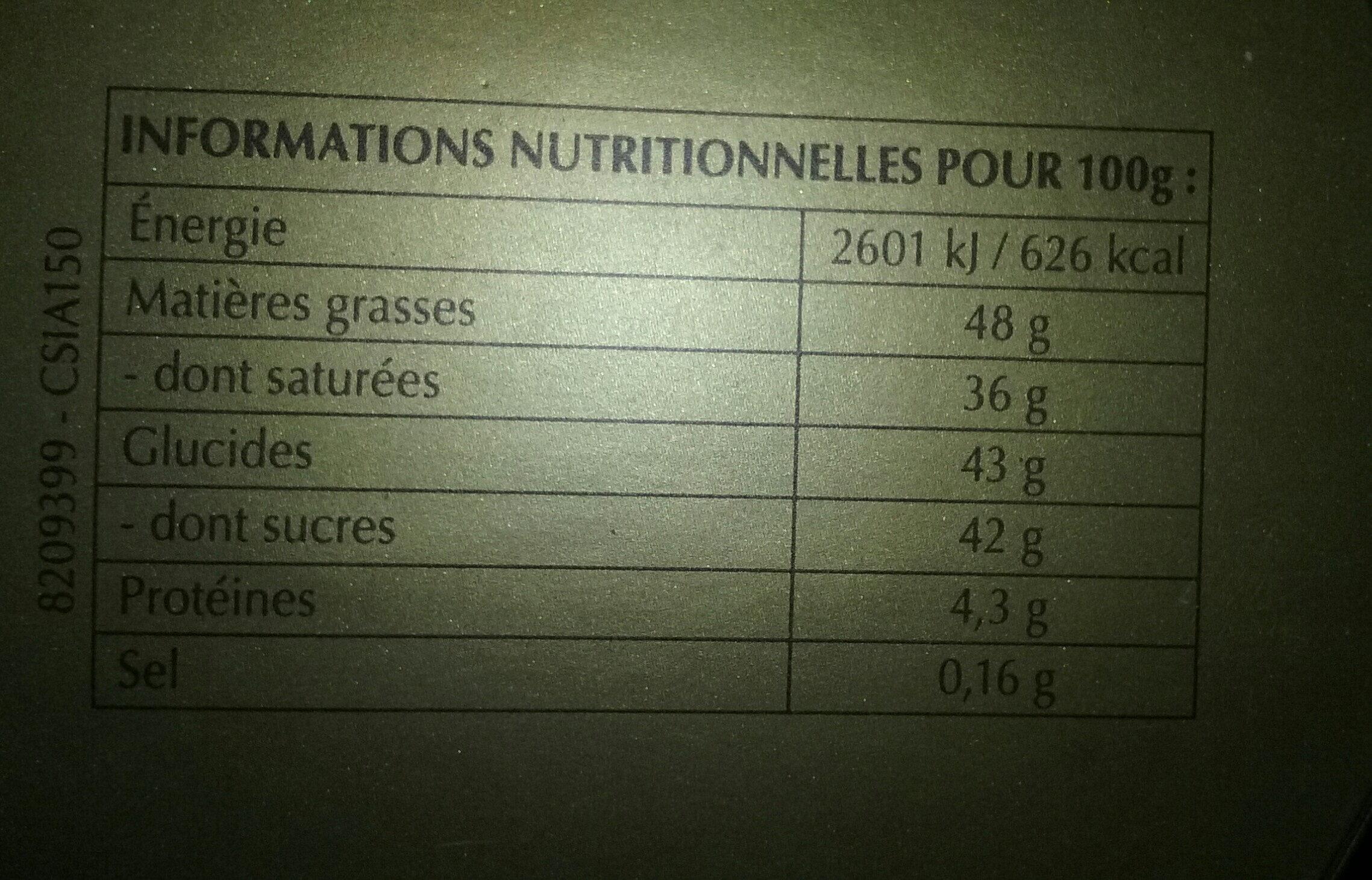 Passionnement fondant assorti - Nutrition facts