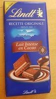 Chocolat au lait intense en cacao - Produit