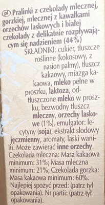 Pralinki z czekolady - mix - Ingredients - pl