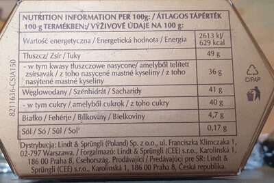Pralinki z czekolady - mix - Nutrition facts - pl