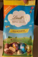 Lindt mini oeuf - Lait Fondant, coeur au lait, blanc - Prodotto - fr