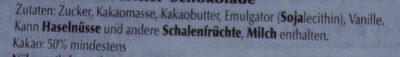 Cuillere chocolat - Inhaltsstoffe - de