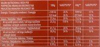 Wafer nocciola - Valori nutrizionali - it