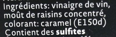 Vinaigre Balsamique de Modène IGP - Ingrediënten