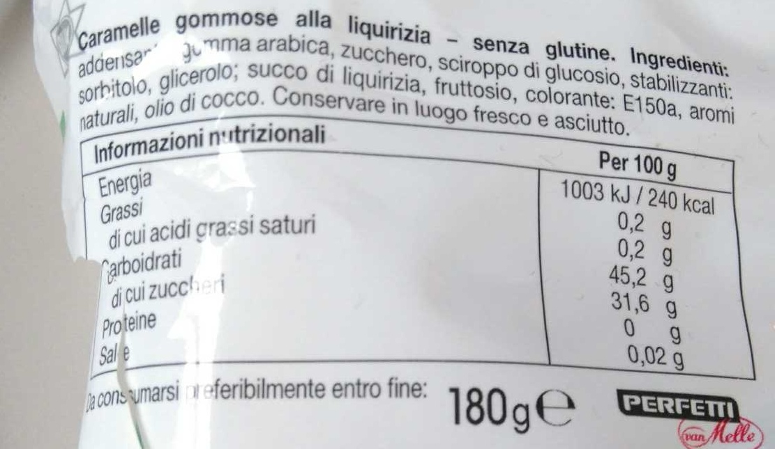 Golia - Informations nutritionnelles - fr