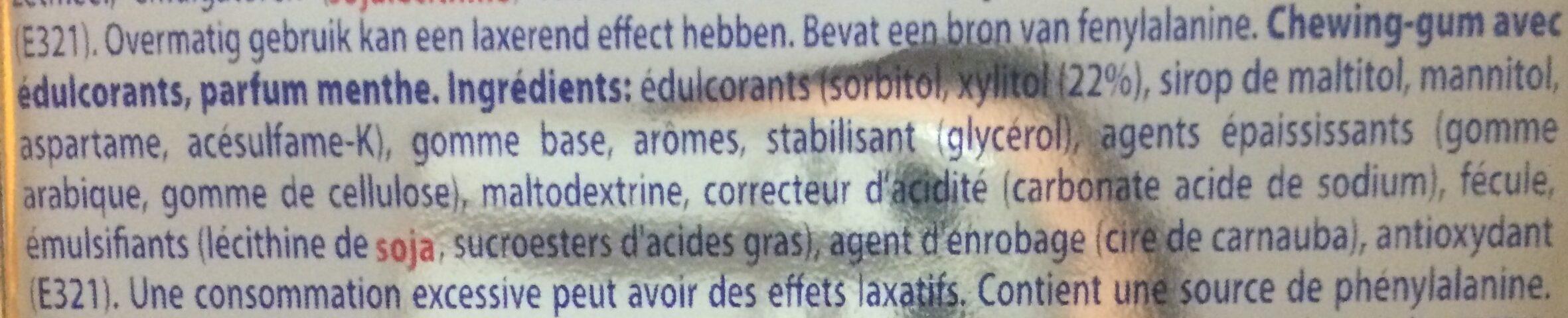 White mentos gum - Ingrédients - fr