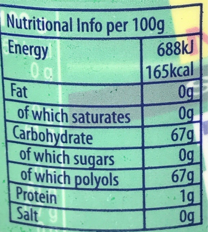 Gum Sugar Free Spearmint Bottle - Nutrition facts - fr