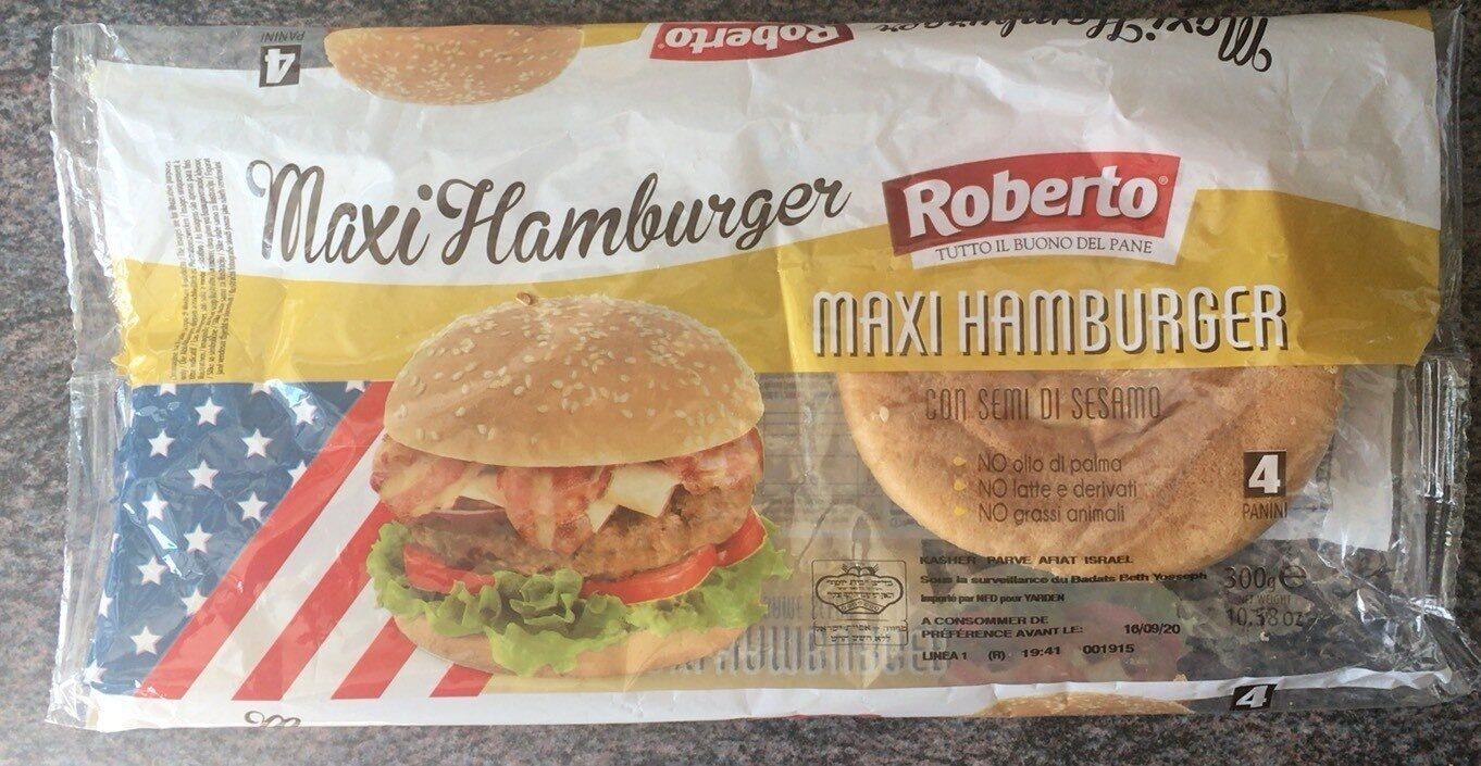 Maxi hamburge con semi di sesamo panini - Product - fr