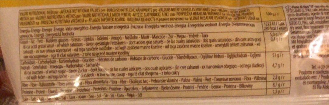 Maxi hamburge con semi di sesamo panini - Informations nutritionnelles - fr