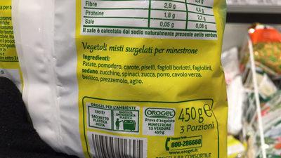 Minestrone 15 verdure - Ingrediënten - fr