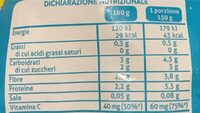 Misto benessere - Informations nutritionnelles - it