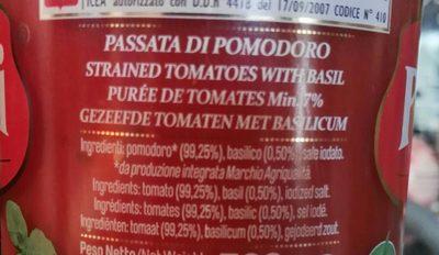 purée de tomates avec Basilic - 1