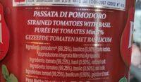 purée de tomates avec Basilic - Ingrediënten - fr