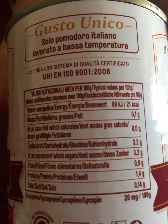Tomate Pelado Petti 400G - Voedingswaarden - fr