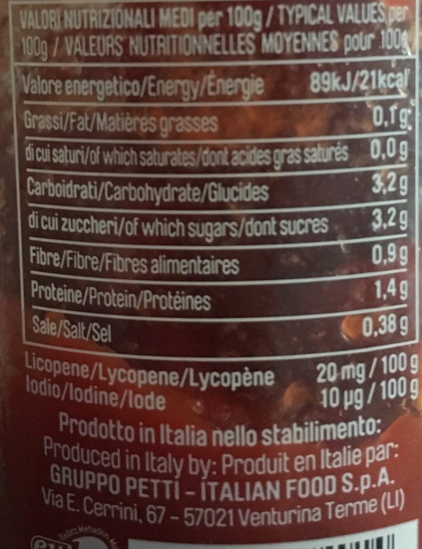 Polpa a dadini - Voedingswaarden - fr