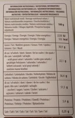 golden - Informations nutritionnelles - it