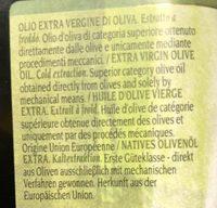 Olio extra vergine di oliva - Ingredients