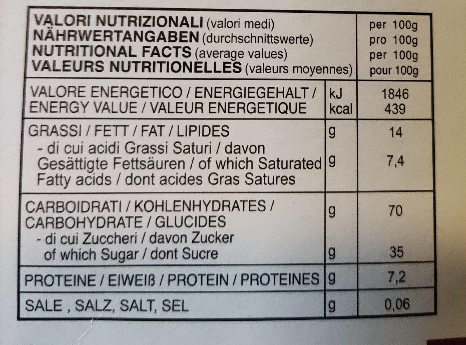 Cantuccini - Voedingswaarden - it