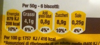 Galletas de limón ecológicas, sin gluten, sin - Nutrition facts