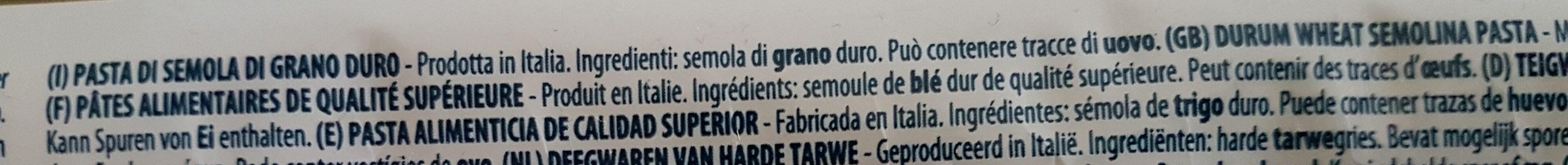 Bucatini - Ingredients