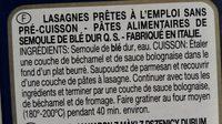 Lasagne le speciali - Ingredients
