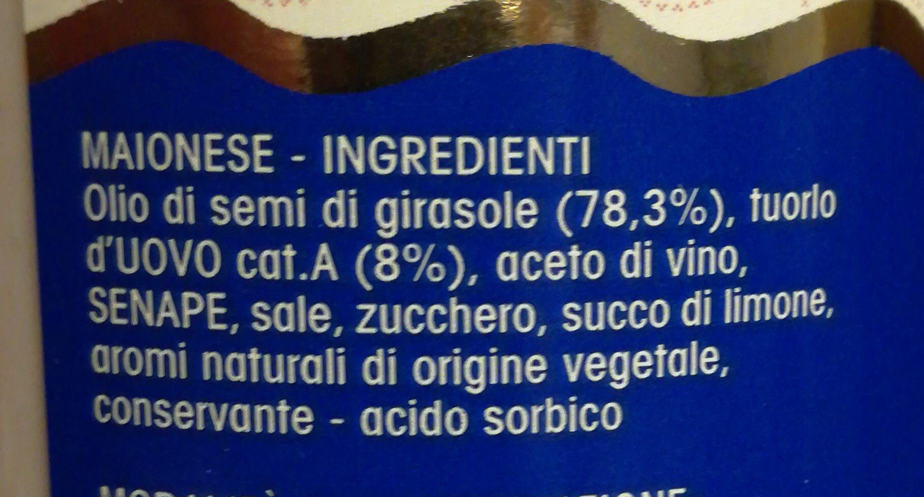 Maionese - Ingredients - it