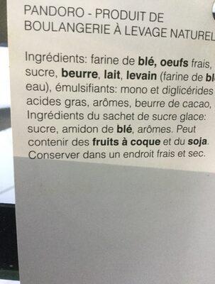 Pandoro classique - Inhaltsstoffe - fr