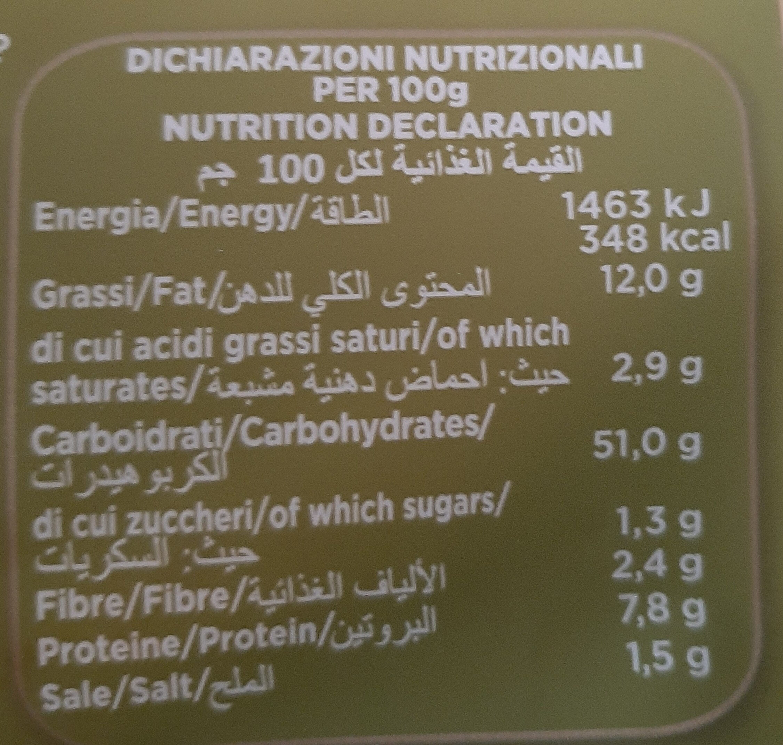 Piadina Arrotolabile Olioe. v. oliva - Nutrition facts - fr
