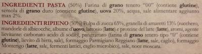 Tortelli di zucca - Ingredients - it